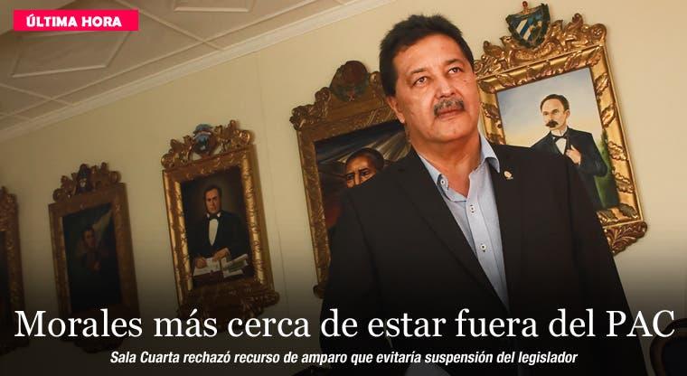 Morales más cerca de estar fuera del PAC