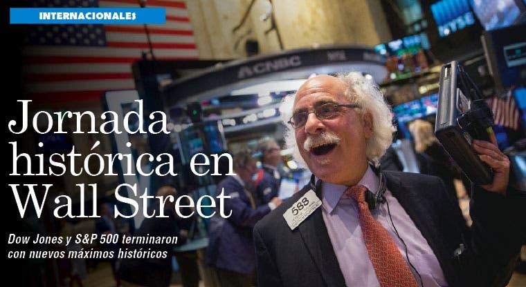 Wall Street cierra jornada con números históricos