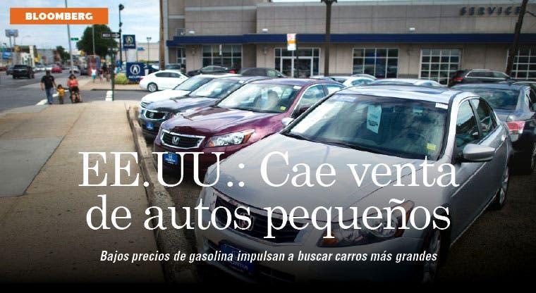 Baja en combustible afecta venta de autos pequeños en EE.UU