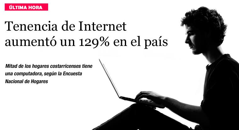 Tenencia de Internet en el país aumentó un 129%