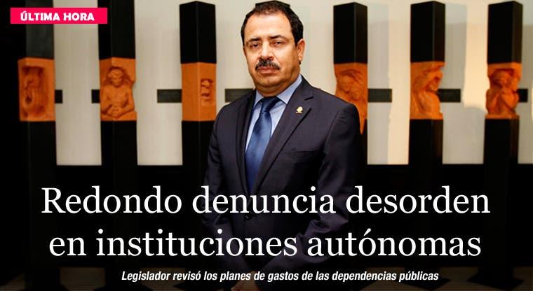 Redondo denuncia desorden en instituciones autónomas