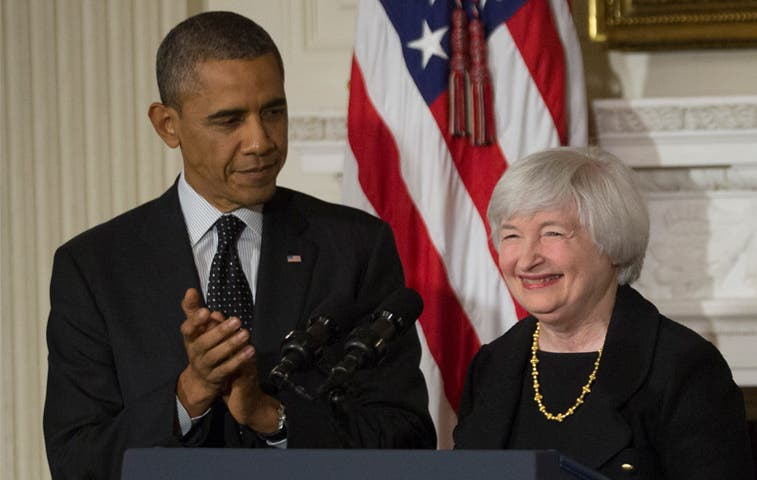 Obama y Yellen conversan sobre economía y regulación financiera