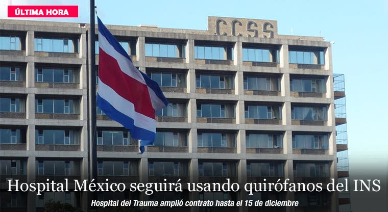 Hospital México seguirá usando quirófanos del INS