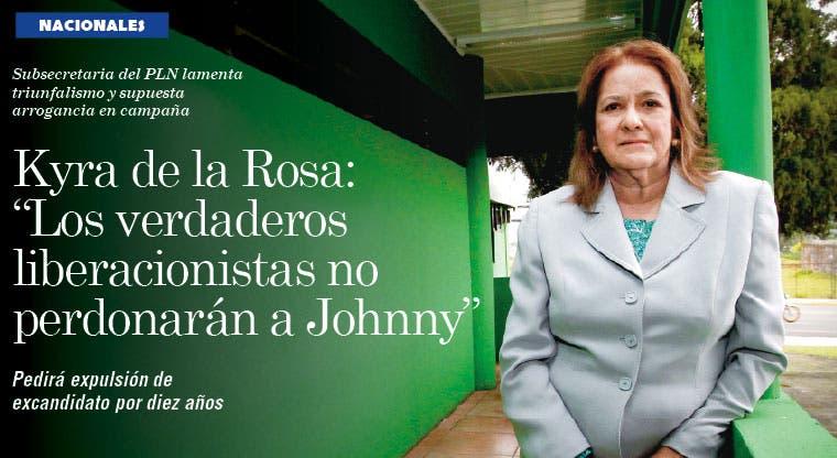 """Kyra de la Rosa: """"Los verdaderos liberacionistas no perdonarán a Johnny"""""""