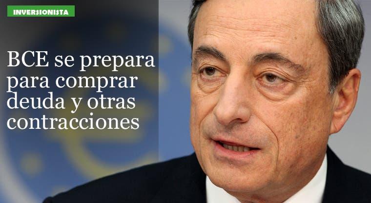 BCE se prepara para comprar deuda y otras contracciones