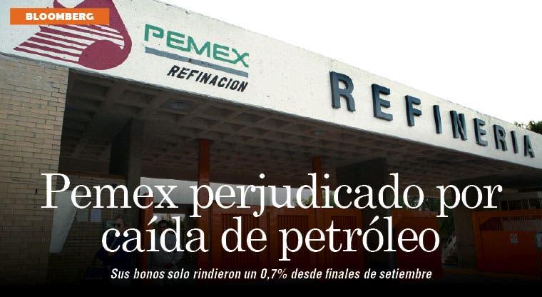 Bonos de Pemex se ven perjudicados por caída del crudo