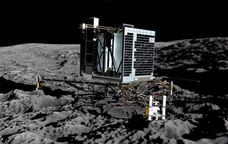 Módulo Philae aterrizó sobre superficie de cometa
