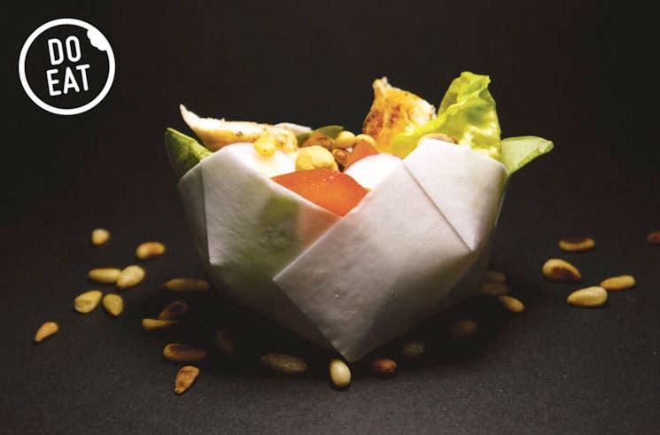 Diseñadores belgas crean vajilla comestible