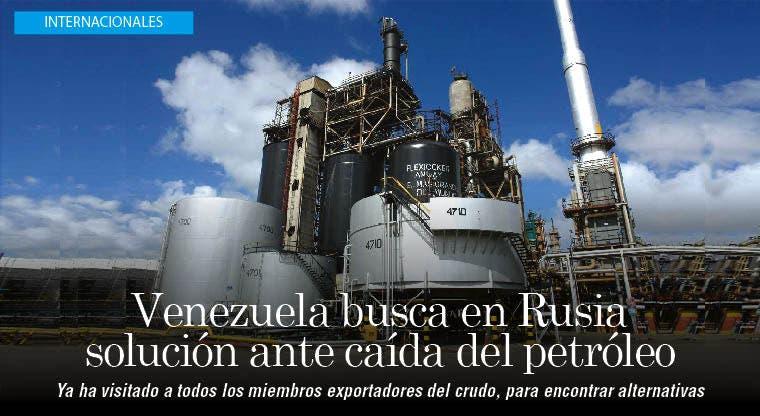 Ministro venezolano en Rusia para frenar caída de precios del crudo