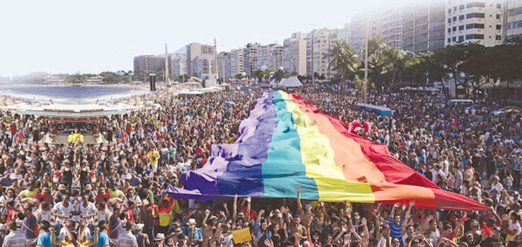Multitudinario desfile del orgullo gay en Río