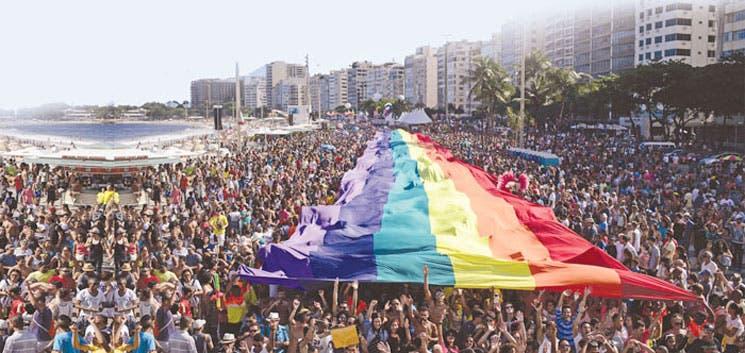 Multitudinario desfile del orgullo gay en Río