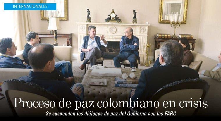 Proceso de paz colombiano entra en crisis tras cumplir su segundo año