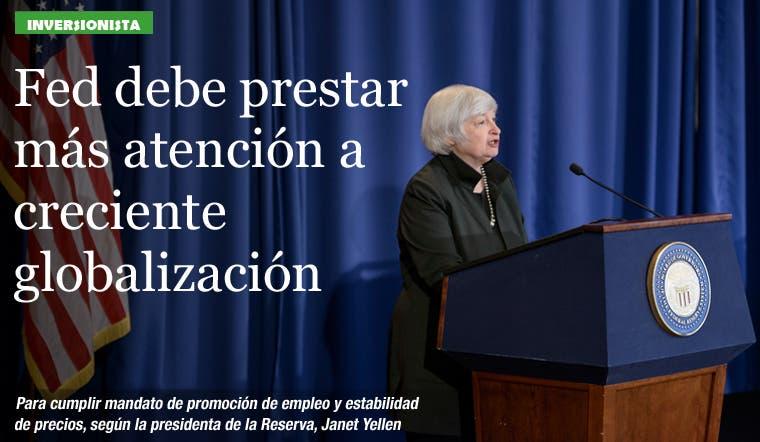 Fed debe prestar más atención a creciente globalización