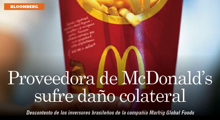 Proveedora de McDonald's sufre daño colateral en Brasil