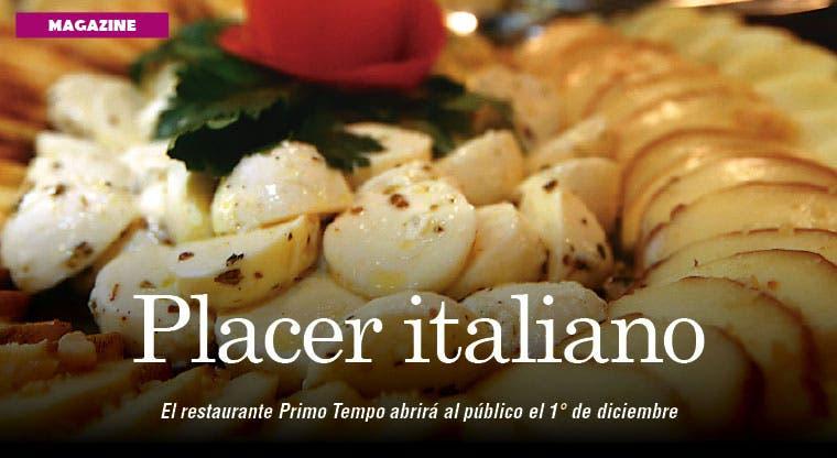 Disfrute de la gastronomía italiana