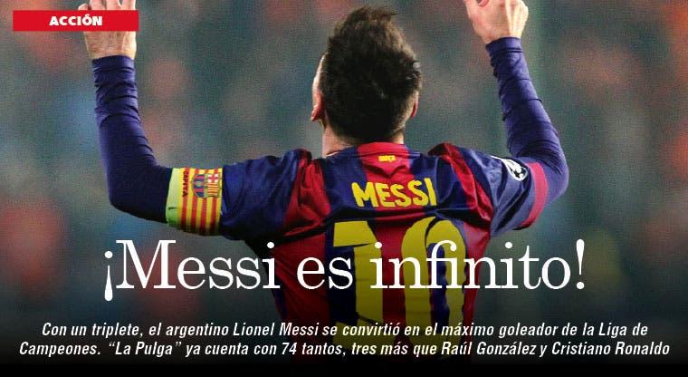 ¡Histórico Messi!
