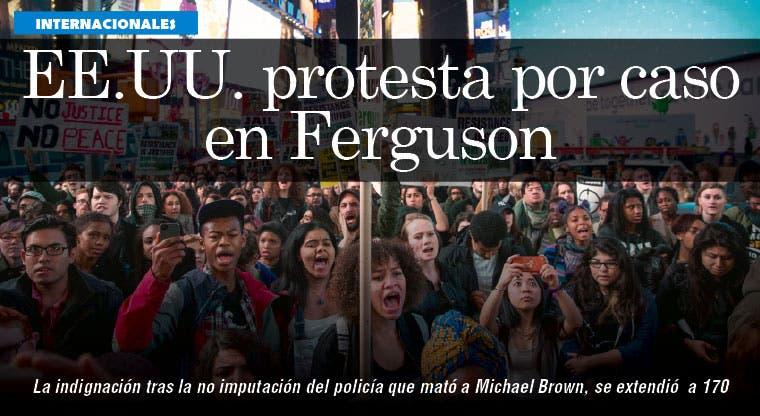 Indignación de Ferguson se extiende a 170 ciudades en EE.UU.