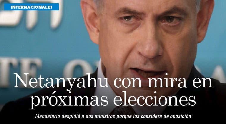 Netanyahu prepara estrategia para próximas elecciones