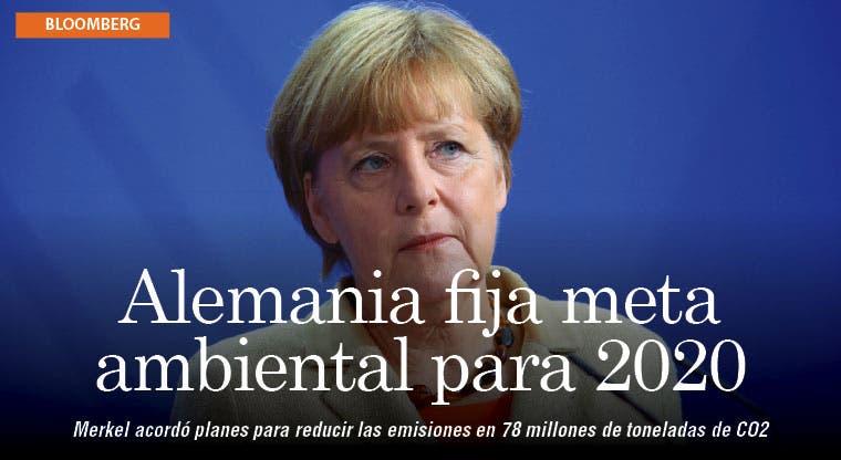Merkel reduciría emisiones para cumplir con metas de clima