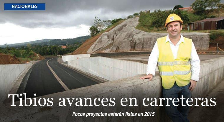 2014 dejó tibios avances en infraestructura vial