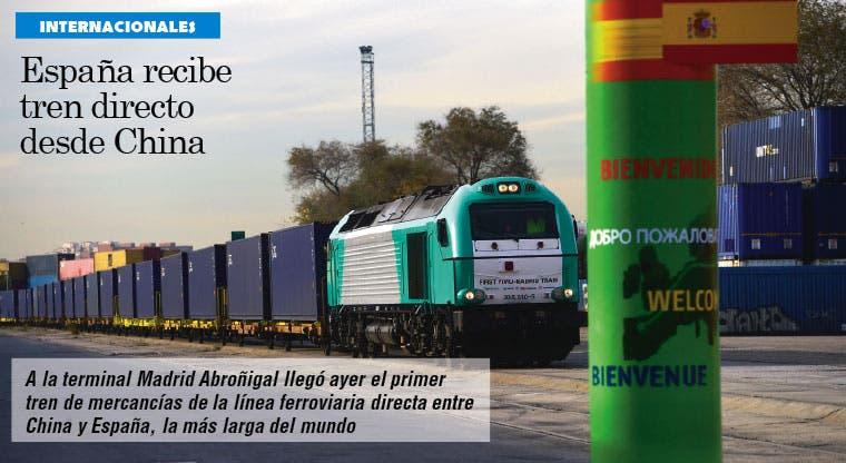 Llega a España el primer tren de mercancías directo desde China
