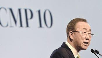 Ban Ki-moon insta a países a acordar borrador en Lima