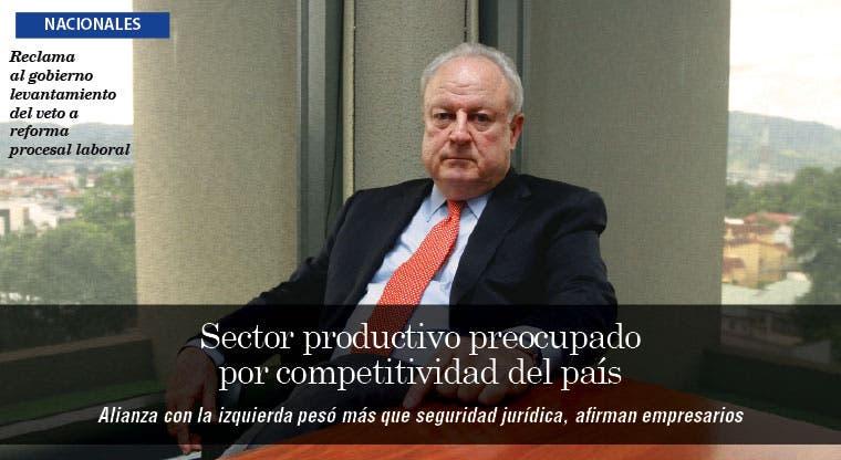 Sector productivo preocupado por competitividad del país