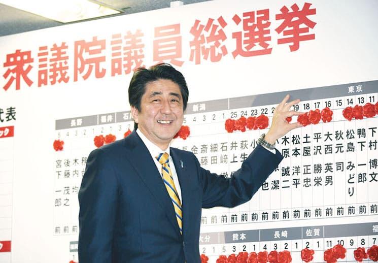 Primer ministro logra contundente mayoría en elecciones japonesas