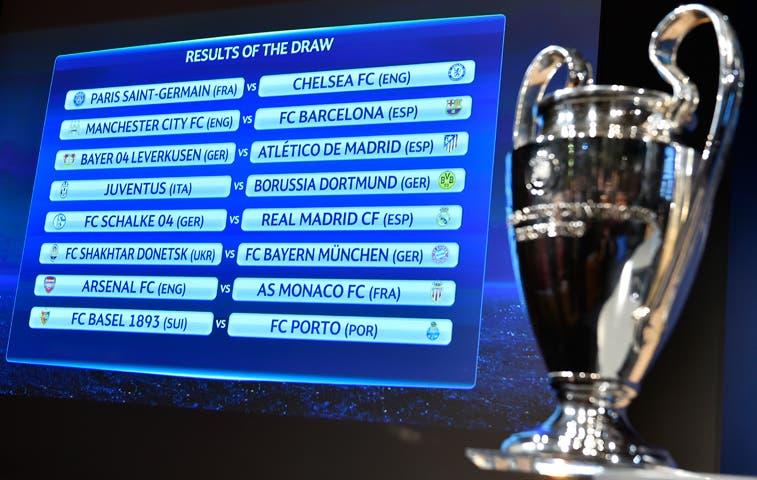 City-Barcelona y PSG-Chelsea, duelos estelares de octavos