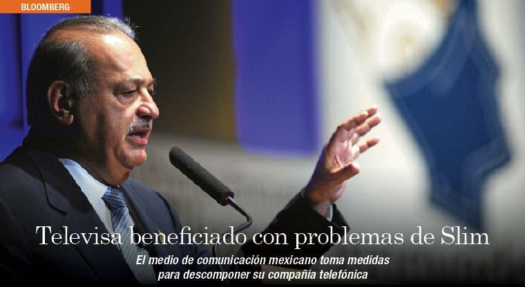 Problemas de Slim benefician a mexicana Televisa
