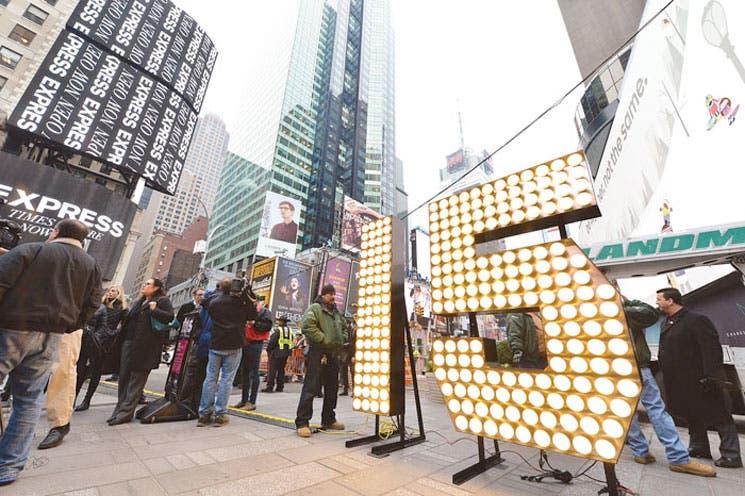 Times Square se prepara para recibir el Año Nuevo