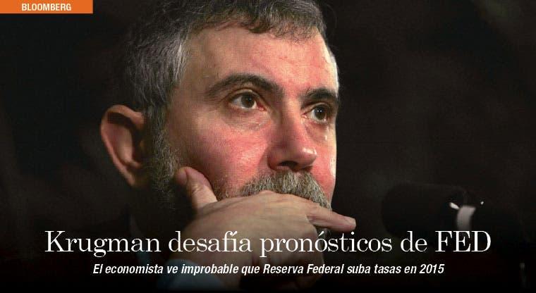 Krugman asegura que FED no subirá tasas en 2015