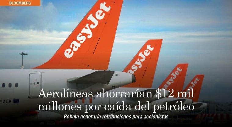 Aerolíneas ahorrarían $12 mil millones por caída del petróleo