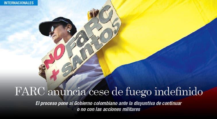 Cese de fuego indefinido de FARC pone en aprietos a Colombia