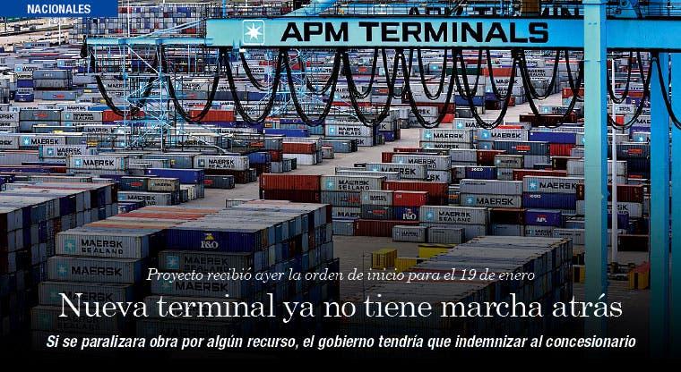 Nueva terminal ya no tiene marcha atrás