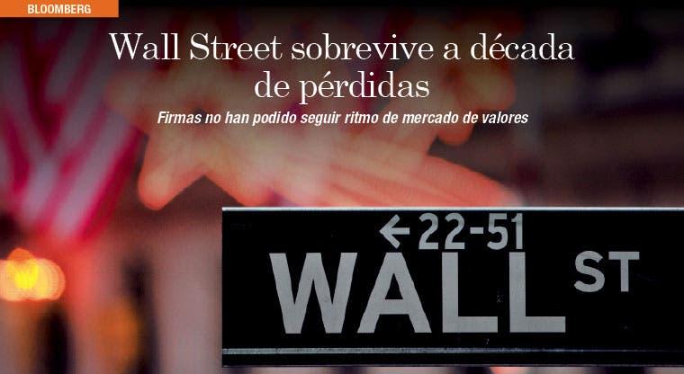 Empresas de Wall Street sobreviven a década de pérdidas