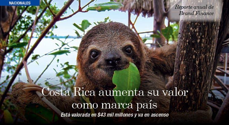 Costa Rica aumenta su valor como marca país