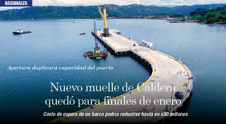 Nuevo muelle de Caldera quedó para finales de enero