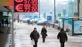 Defensa del rublo recortó reservas rusas en $15.700 millones