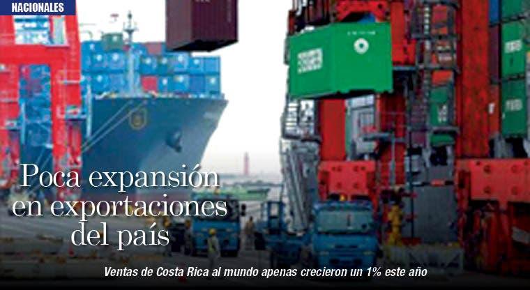 Poca expansión en exportaciones del país