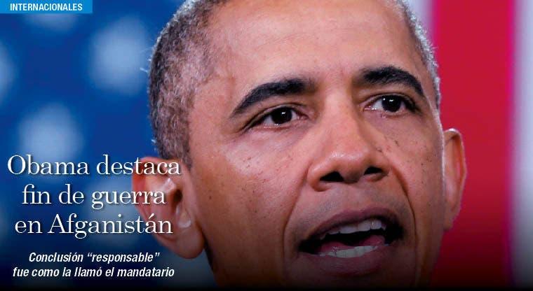 """Obama destaca fin """"responsable"""" de la guerra más larga en la historia de EE.UU."""