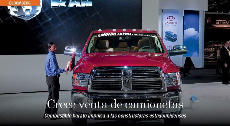 Combustible barato impulsa ventas de camionetas