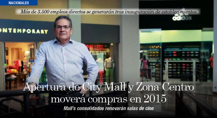 Apertura de City Mall y Zona Centro moverá compras en 2015
