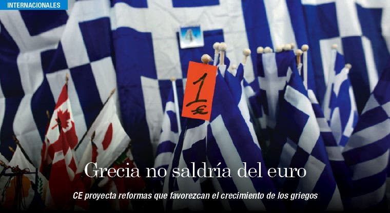 Comisión Europea niega salida de Grecia del euro