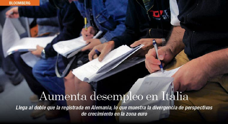 Desempleo en Italia muestra divergencia con Europa
