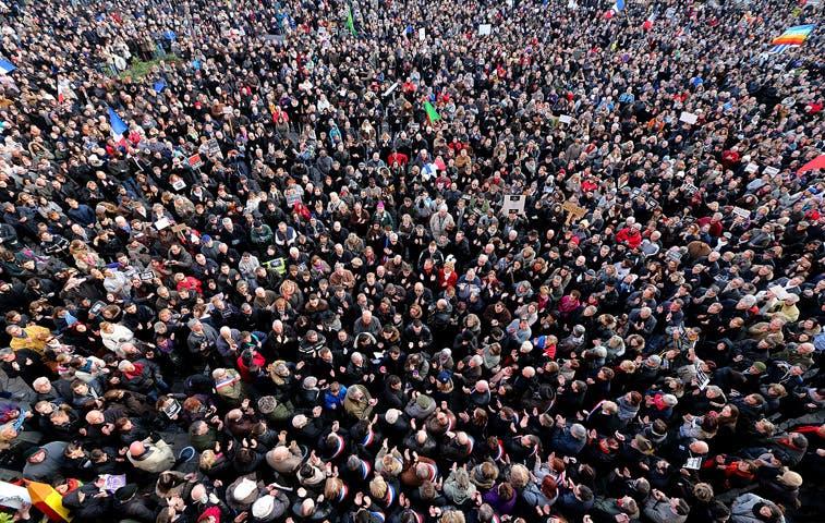 Tres millones de personas protestan contra terrorismo en Francia