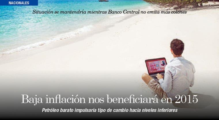 Baja inflación nos beneficiará en 2015