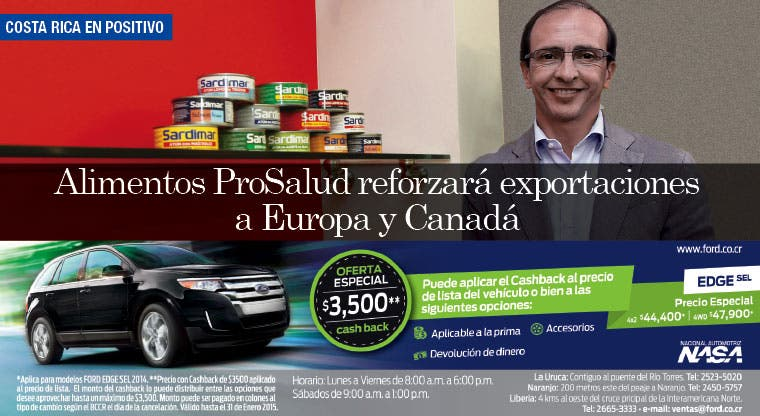 Alimentos ProSalud reforzará exportaciones a Europa y Canadá