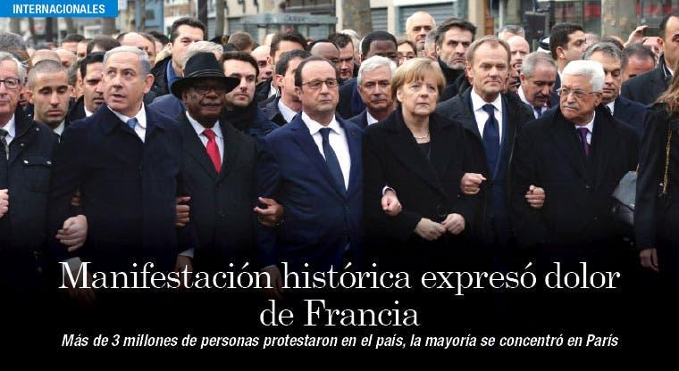 Líderes mundiales marcharon contra terrorismo