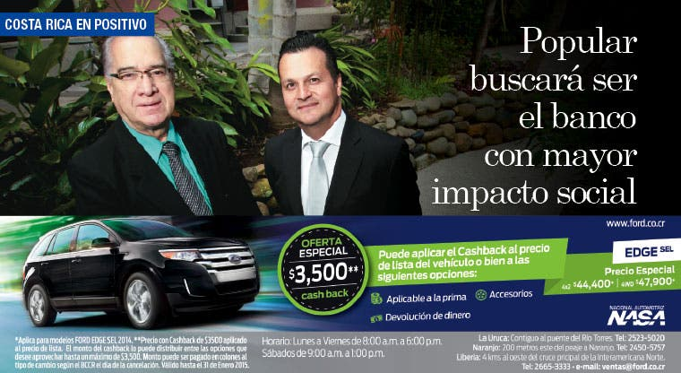 Popular buscará ser el banco con mayor impacto social